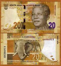 South Africa ND (2012) Nelson Mandela 20 Rand - Elephant image - UNCIRC - NEW