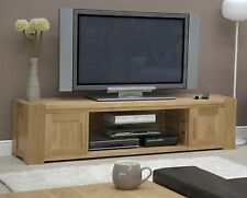 Romano solid oak furniture widescreen television cabinet stand unit