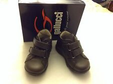 GALLUCCI Baby Brown Leather Shoes Sz 19 Made In Italy new in box vitello ardesia