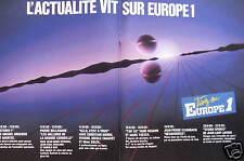 PUBLICITÉ RADIO L'ACTUALITÉ VIT SUR EUROPE 1 M.DRUCKER - P.BELLEMARE - C.MORIN