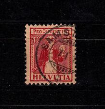 Schweiz Mich.-Nr.  135, 10 (+5) Pro Juventute 1917,gestempelt, siehe Bild