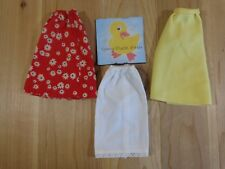 Barbie Fashion Doll Clothing Lot of 3 SKIRTS Red Floral Yellow White Petticoat