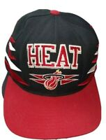 Miami Heat Black Mitchell & Ness NBA Vintage Snapback Hat Cap
