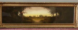 """William Henry Chandler Pastel Works On Paper """"Landscape"""" Framed"""
