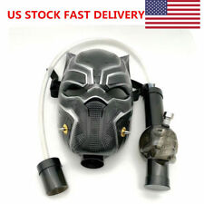 USA Leopard Shape Gas Mask Bong Smoking Water Pipes Wholesale W/ Flexible Pipe