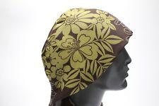 Turbante Plus - Marrón Floral - talla única Cabeza hiyab Pareo COMBO