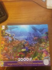 Ceaco Colorful Magical Undersea Turtle and Fish 2000 Piece Puzzle New Sealed Box