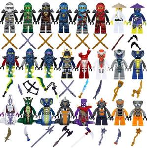 24pcs Ninjago Minifigures For Kids Building Blocks Toys Action Set Gift Jay Kai