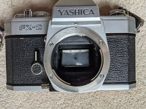 Yashica FX2 camera + 50mm f1.9 lens - working but not film tested - free postage