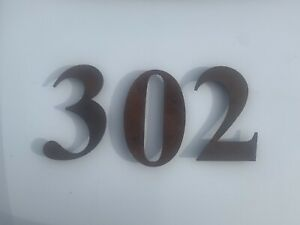 Rust Steel House Number Rustic Floating Raised 300mm Corten Letterbox 3D Sign