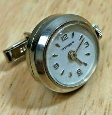 Vintage Arpeggio Swiss Hand-Winding Mechanical Cuff-Link Analog Watch Hours~Runs