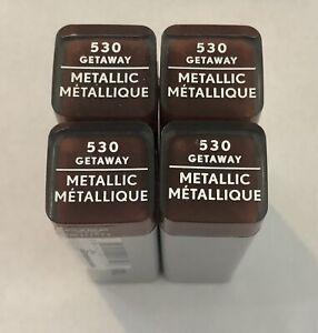 (4) Covergirl Exhibitionist Metallic Lipstick, 530 Getaway