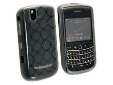 Flexible TPU Gel Case for Blackberry Tour 9630/9650 - Smoke Circle