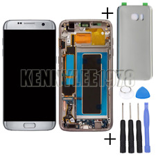 For Samsung Galaxy S7 Edge G935F LCD Display+Touch screen +frame silver+cover