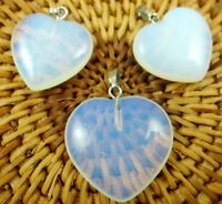 3PC Unique Opalite Heart-shaped pendant Gem necklace earring Jewelry Making