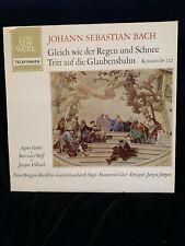 BACH Cantatas #18 & 152 - Giebel, Bruggen, Leonhardt, Jurgens - TELEFUNKEN ST LP