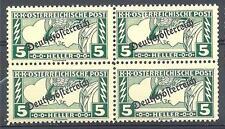 Austria 1919 Sc# QE6 Special handling stamps 5h block 4 MNH