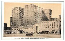 Mid-1900s Lowry Hotel, 4th and Wabasha St, St. Paul, MN Postcard