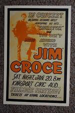 Jim Croce Concert poster 1973 Kingsport Tennesse --