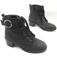 Ladies Primark Widefit Comfort Ankle Boots Black Lace up Zip Buckle EUR 40, UK 7