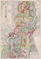 1944 Fisk Mississippi Meander Belt Ancient River Bed snakes Alluvial Valley SH 2