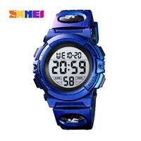 SKMEI Kids LED Sports Large Digital Wrist Watch Waterproof Child Boys Girls Gift