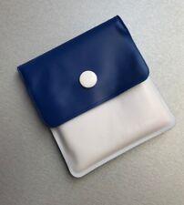 Taschenaschenbecher blau / weiß Taschen Hand Aschenbecher Etui flach flexibel