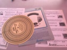 Stereo Audiophile Vintage Electronic Papers Lot Stroboscope Koss Headphones
