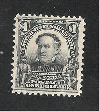 U.S. Scott 311 Farragut $1.00 black MNH stamp.