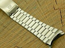 Seiko Vintage NOS Stainless Steel Watch Band Mens 20mm Deployment Clasp Unused