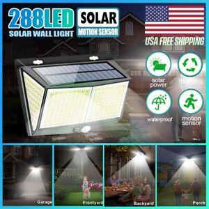 288 LED Security Detector Solar Spot Light Motion Sensor Outdoor Yard Floodlight