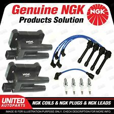 NGK Spark Plugs Coils Leads Kit for Mitsubishi Express SJ WA 2.4L 4Cyl