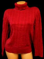 Sonoma life + style red long sleeve turtleneck plus size cable-knit sweater 1X