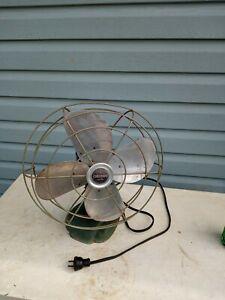 """Vintage Green Coronado 40 watt, 12"""" fan model 1275R"""