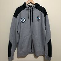 Port Adelaide Power AFL Zip Hoodie Sweatshirt Jumper Mens 3XL XXXL