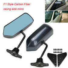 F1 Style Carbon Fiber racing side mirror 2X Car Vehicles Racing Universal