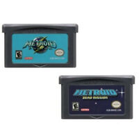 Metroid Fusion Zero Mission Game Boy Advance Color GBC GBA Nintendo 32 bit