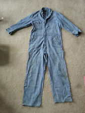 Dickies Sanforized Coveralls VINTAGE Antique Grease spots & patches Herringbone