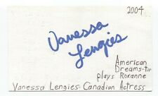 Vanessa Lengies Signed 3x5 Index Card Autographed Signature Actress Singer Glee