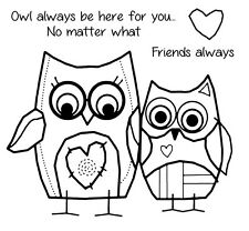 Woodware Clear Singles Stamp - Owl Friends FRS039