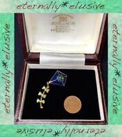 LIA Signed Designer LIANNA Enamel Swarovski Crystals Articulated Kite Brooch Pin