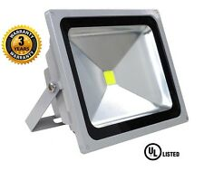 LED Flood Light, 20W-3500K Super Bright, High Strength Aluminum With Glassess