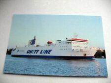 Jan Śniadecki (2) - Unity Line - Prom Ferry Ship Fährschiff Boat postcard