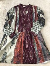 Anthropologie Patchwork Print Shirtdress Size S By Tiny $148 Dress Guc Tunic