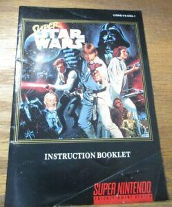 SUPER STAR WARS - SNES Super Nintendo Instruction Booklet ONLY