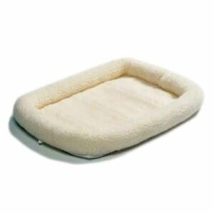 """Midwest Quiet Time Fleece Dog Crate Bed White 48"""" x 30"""""""
