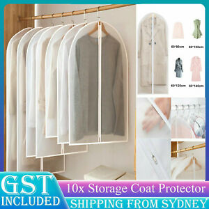 10x Dustproof Storage Bag Garment Dress Cover Suit Clothes Jacket Coat Protector