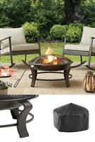 Round 28 Inch Outdoor Wood Burning Backyard Fire Pit Patio with Mesh Spark Guard