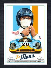 Le Mans Alternative Film Poster ft Steve Mcqueen