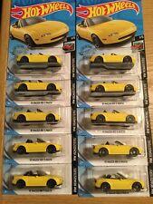2020 Hot Wheels #208 NIGHTBURNERZ 1991 91 MAZDA MX-5 MIATA YELLOW Lot Of 10